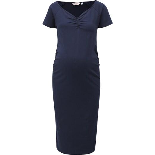 1868daa88c7b Tmavomodré puzdrové tehotenské šaty Dorothy Perkins Maternity - Glami.sk