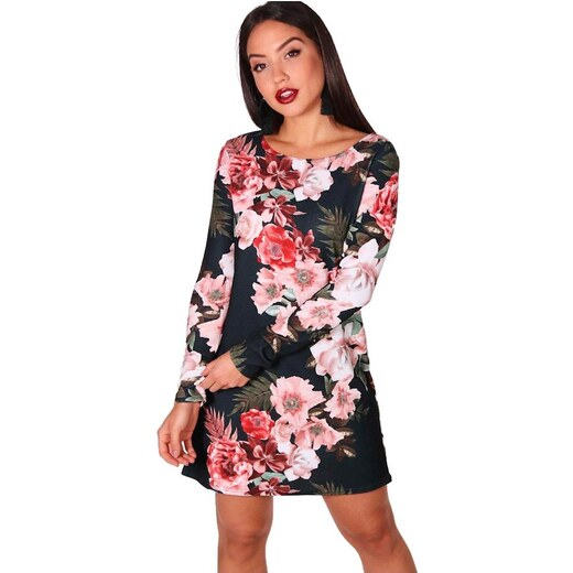 b2584ac68670 BOOHOO Hollie kvetinové šaty s dlhým rukávom - Glami.sk