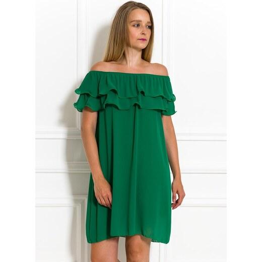 2433689be730 Glamorous by Glam Dámské letní šaty s volánem zelené - Glami.cz
