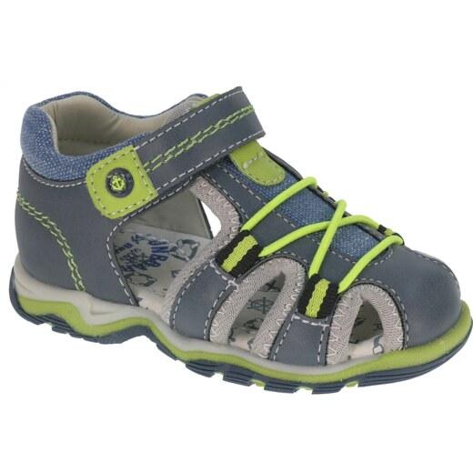 7b59396da302 Beppi Chlapčenské sandále - modro-zelené - Glami.sk