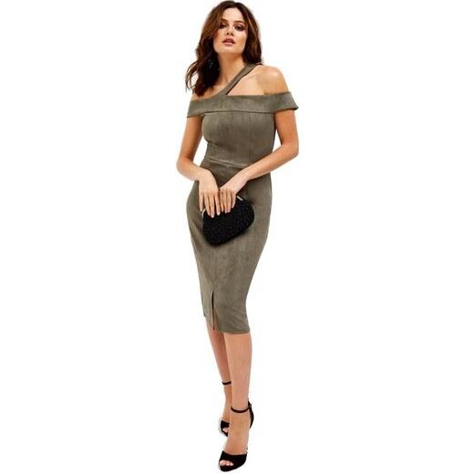 LITTLE MISTRESS Luxusní semišové bodycon šaty - Glami.cz 9ba436dd9a