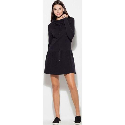 a6e79d7d02df KATRUS Čierne šaty K260 Black - Glami.sk
