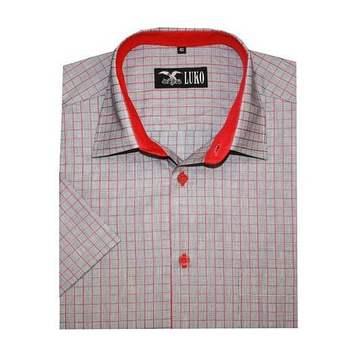 d2a721bf0c90 Pánská košile Luko 144104 - červená kostka červená kostička - Glami.cz