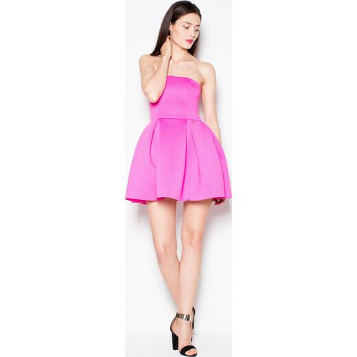 8703cb7dddf6 VENATON Mini šaty bez ramienok VT074 Fuchsia - Glami.sk