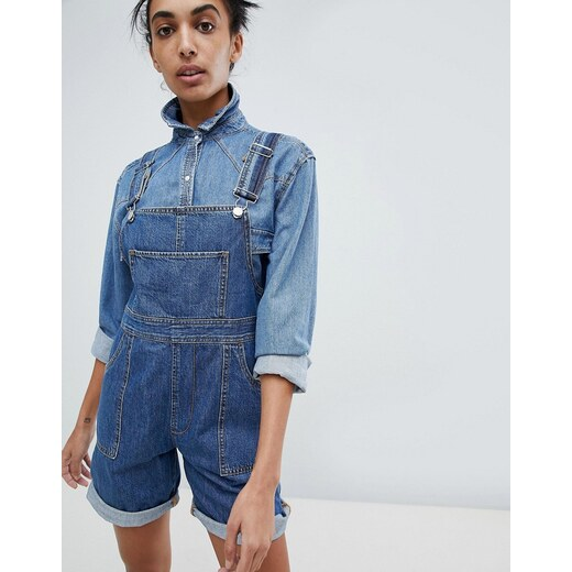Calvin Klein Jeans Short Dungarees - Mid stone - Glami.cz 69fb281e8f