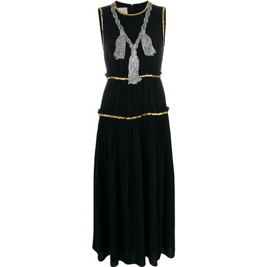 f80dd3d65 Gucci embellished pleated maxi dress - Black - Glami.cz