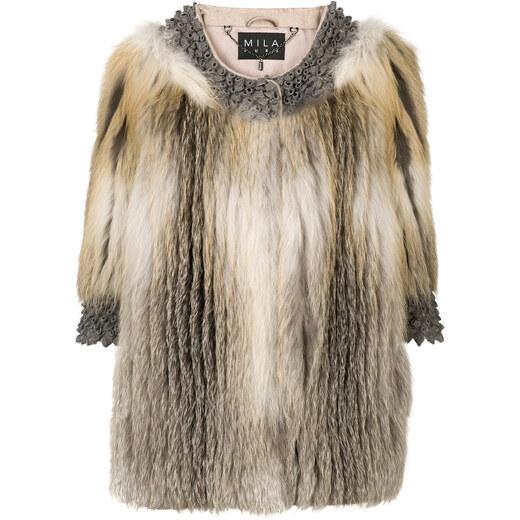 8f77175f979 Cara Mila Roxanne fur coat - Nude   Neutrals - Glami.cz