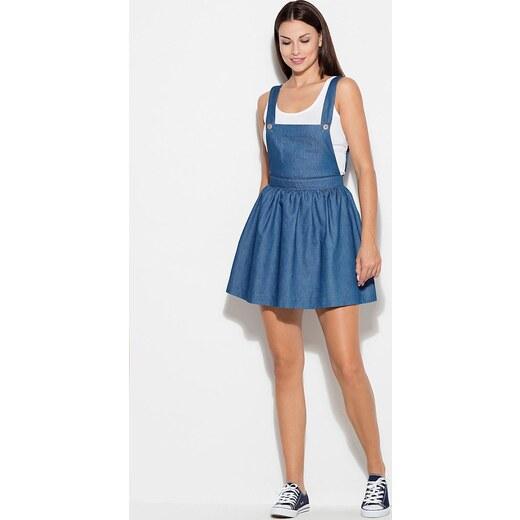 d4edbb55cda0 KATRUS Modré šaty v štýle krtko K191 Blue - Glami.sk