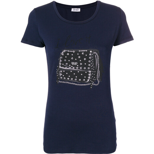 Liu Jo embellished bag print T-shirt - Blue - Glami.sk 35eb4fb84e