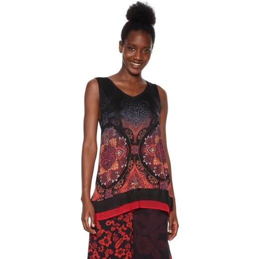 tričko Desigual Verona negro - Glami.sk a5440f30e48
