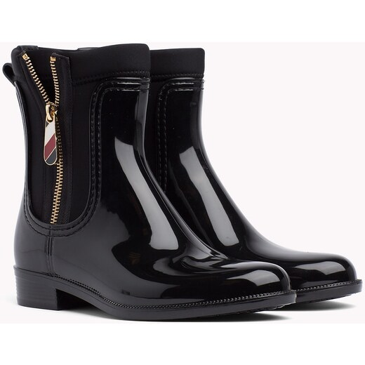 Tommy Hilfiger čierne gumáky Material Mix Rain Boot - Glami.sk 1e8aee9e60b