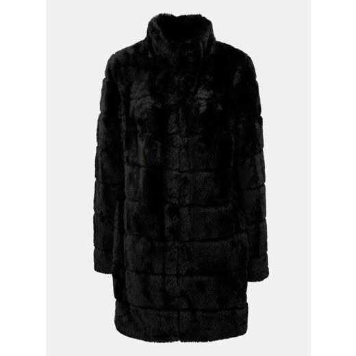 Čierny kabát z umelej kožušiny Dorothy Perkins - Glami.sk 95fa879261a