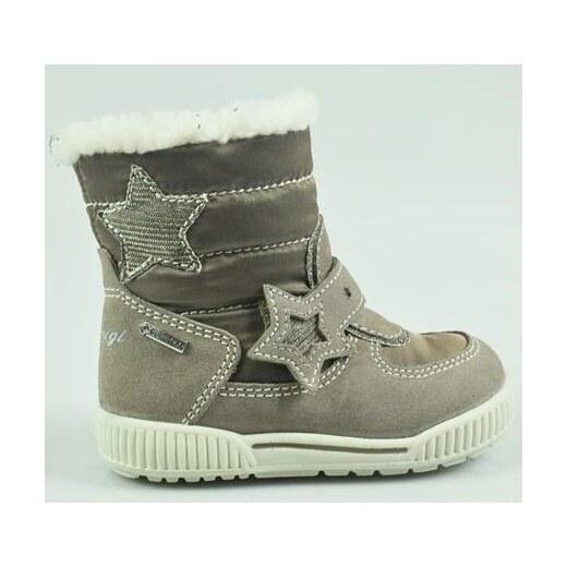 Primigi Dievčenské zimné topánky s hviezdičkou - šedé - Glami.sk be8127a4790