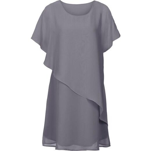 BODYFLIRT boutique Bonprix - robe d été Robe tissée gris manches courtes  pour femme - Glami.fr e1850e25ebff