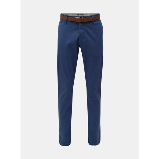 1f72ee187b74 Modré pánske slim fit straight chino nohavice s opaskom s.Oliver - Glami.sk