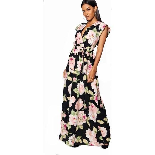 bfe40427640a BOOHOO Prémiové maxi šaty s kvetmi - Glami.sk