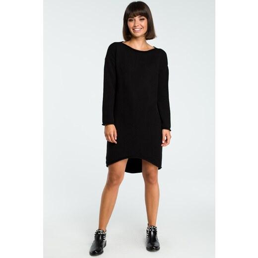54a9c7c336d9 BE wear Čierne pletené šaty BK006 - Glami.sk