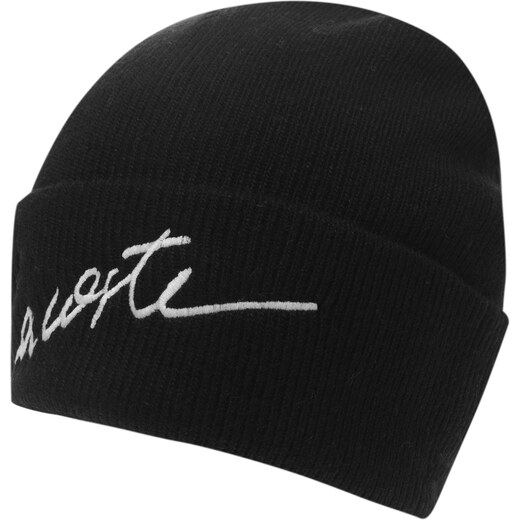 ee06e6c8c Lacoste Live Signature Logo Beanie Hat Black/Geode 252055 - Glami.sk