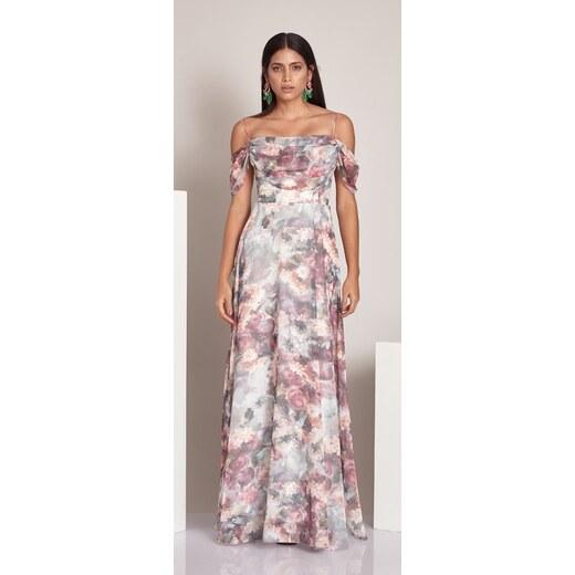 FERVENTE Spoločenské šaty Chardonnay 1d9ffb90324
