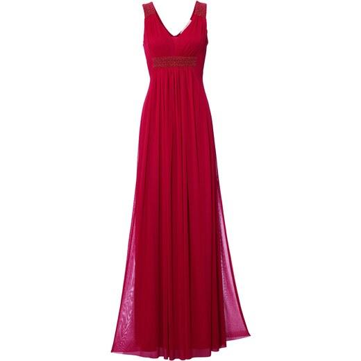 82d77db0506f heine TIMELESS Večerné šaty s ozdobnými perličkami červená - Glami.sk