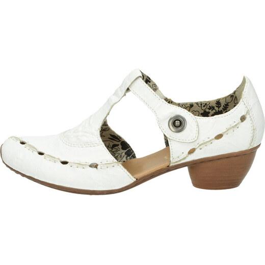 ac827b6a3656 Rieker dámske sandále - biele - Glami.sk