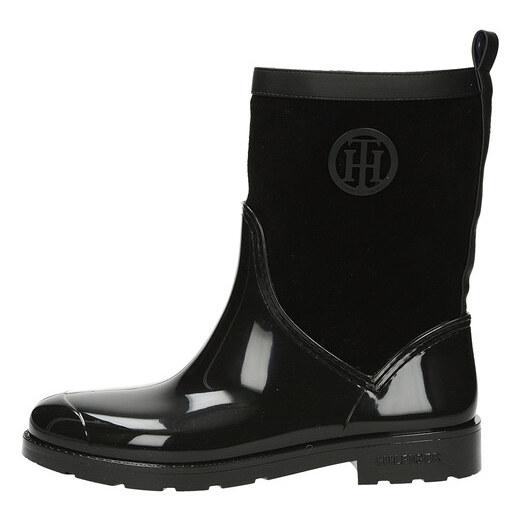 Tommy Hilfiger dámske pohodlné zateplené čižmy - čierne - Glami.sk 0af2c53a27
