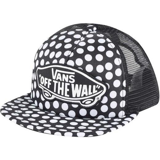 VANS Dámská černo-bílá kšiltovka s puntíky Beach Girl Trucker Hat V00H5LM9A  - Glami.cz e1f4c07e02