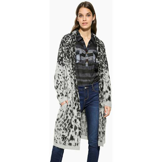 Desigual Dámsky sveter Jers Jacket Grey Leopard 17WWJFC4 2023 - Glami.sk 96933f3cb1a