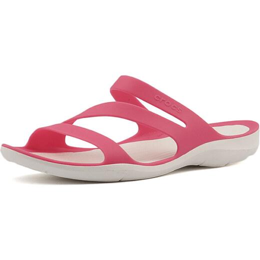 7370034b215 Crocs Dámske šľapky Swiftwater Sandal Paradise Pink White 203998-6NR -  Glami.sk
