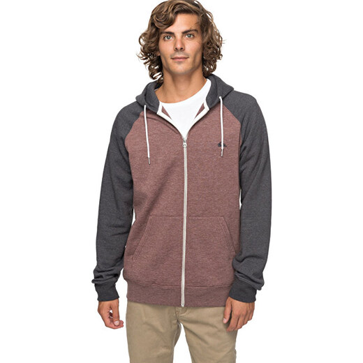 Quiksilver Mikina Everyday Zip Marron Heather EQYFT03429-CQDH - Glami.sk 66f55a81ae4
