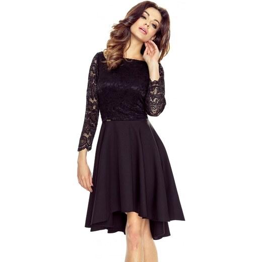 75f2130935a4 Bergamo Společenské krajkové šaty - černé - Glami.cz