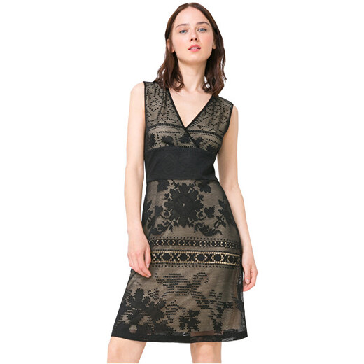 Desigual Dámske šaty Vest Elga 72V2GT5 2000 - Glami.sk d0e3618ca16