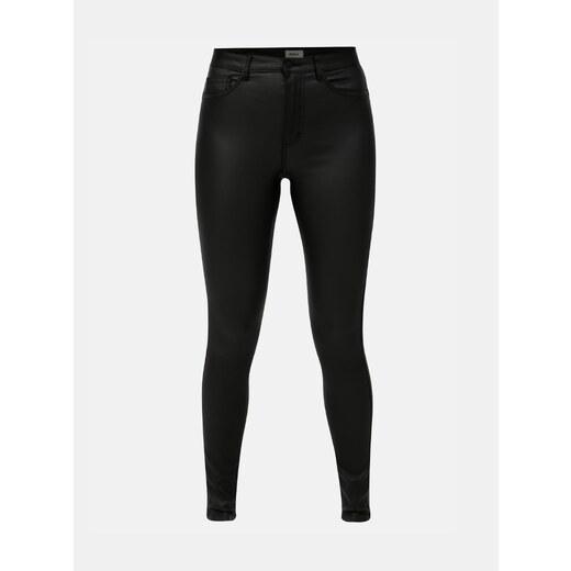 1c6195acd68 Černé lesklé skinny kalhoty ONLY - Glami.cz