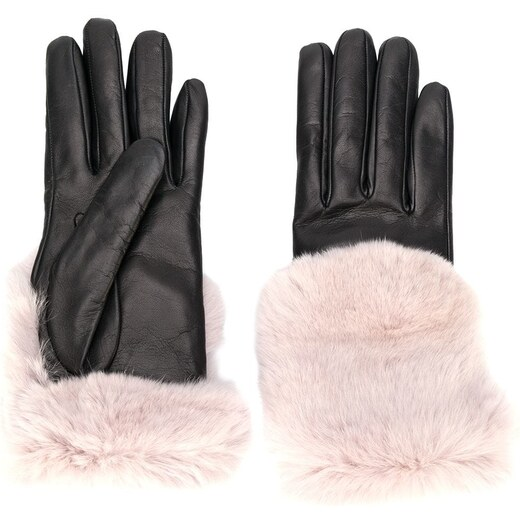 Gala Gloves fur-trim gloves - Black - Glami.hu 0f05de327c