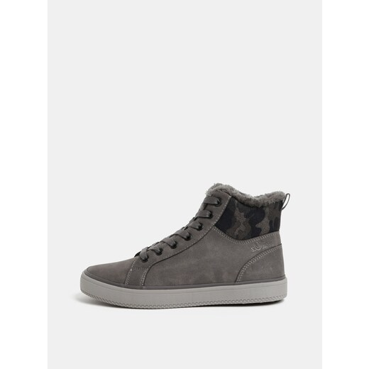 54e5cbda43 Sivé dámske členkové zimné topánky s umelou kožušinkou s.Oliver - Glami.sk