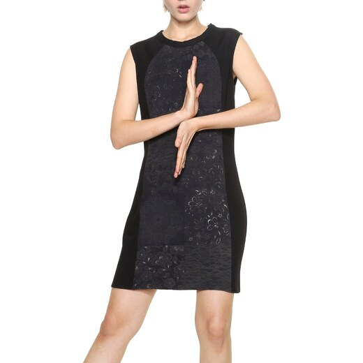 5f33472a46a Desigual černé šaty Corinto - 36 - Glami.cz