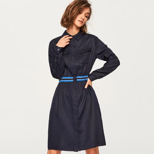 8538c9734d Reserved - Lyocell anyagú ruha - Tengerészk - Glami.hu
