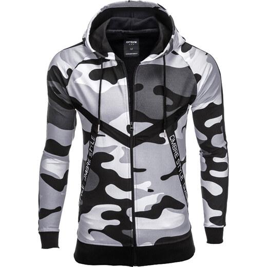 Ombre Clothing Férfi terepmintás pulóver kapucnival Stealth fekete -  Glami.hu 4649d9ade1