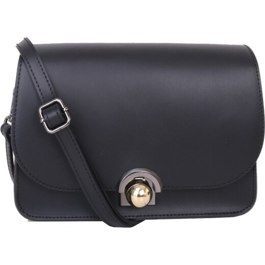 TALIANSKE Talianska malá plesová kožená kabelka luxusná crossbody čierna  Elisa - Glami.sk 55c27fe0485