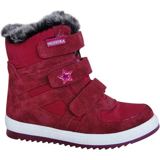 2532996bd36c Protetika Dievčenské zimné topánky Peny - červené - Glami.sk
