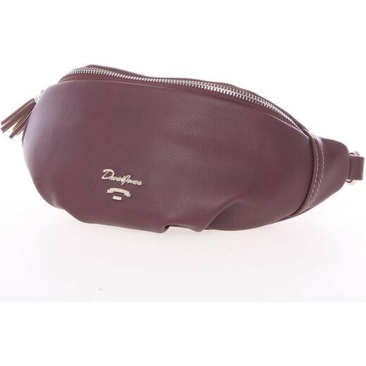 9dcde9090d Vkusná tmavá vínová ledvinková kabelka pro ženy - David Jones Kidney vínová  - Glami.sk