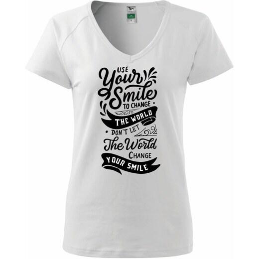 b6d5220106b2 Myshirt.cz Your smile to change the world - Tričko dámské Dream - Glami.cz