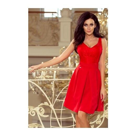 87ddc225863b Dámské elegantní šaty Red romantic NUMOCO 208-2 - Glami.cz