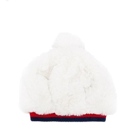 ee3e733b4 Gucci Kids Web trim faux fur hat - White - Glami.sk