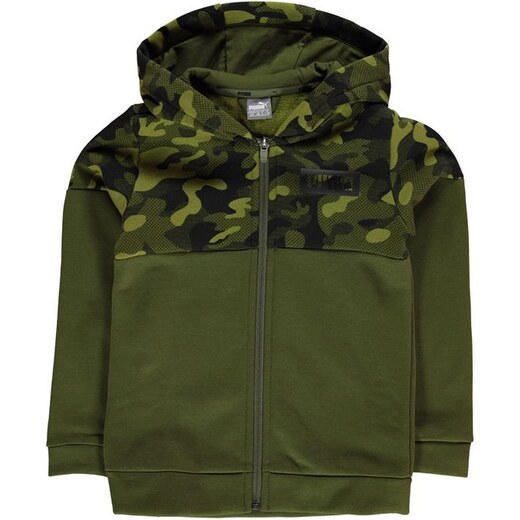 Puma Camo Full Zip Jacket Junior Boys - Glami.sk 2879f4a608c