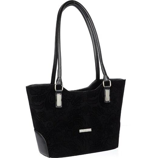 a7c0d25725 Černá elegantní kabelka V18SM081BLC - GROSSO - Glami.sk