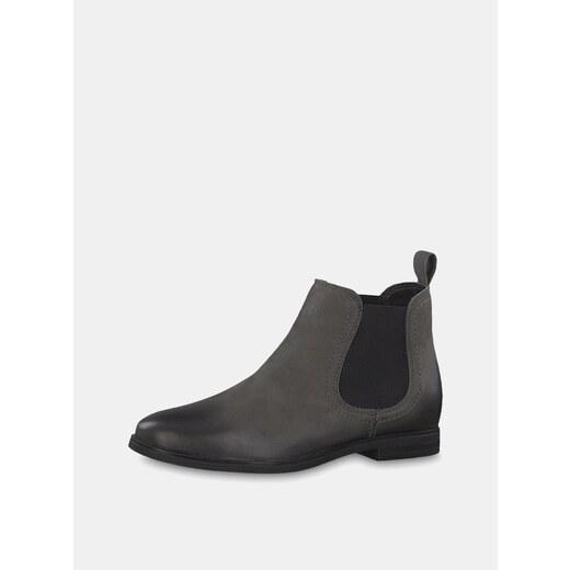 e5728b3dd53d Sivé kožené chelsea topánky Tamaris - Glami.sk
