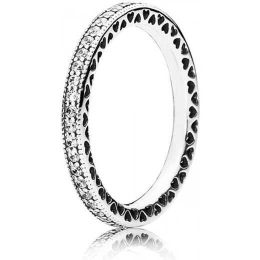 Pandora Zamilovaný prsten s krystaly 190963CZ (Obvod 54 mm) stříbro  925 1000 - Glami.cz 8ab6d7682fd