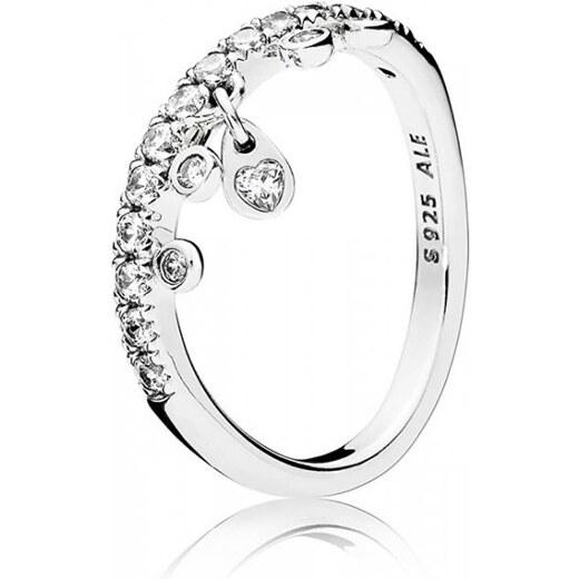 Pandora Třpytivý stříbrný prsten 197108CZ (Obvod 50 mm) stříbro 925 1000 -  Glami.cz d876b62ce12