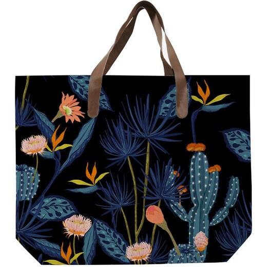 Čierna plátená taška s potlačou Surdic Cactus - Glami.sk 3455d8cc10e